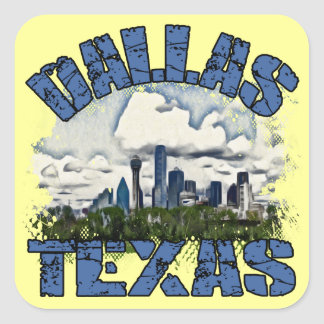 Dallas, Texas Square Sticker
