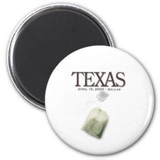 Dallas Texas Tea Party 2 Inch Round Magnet