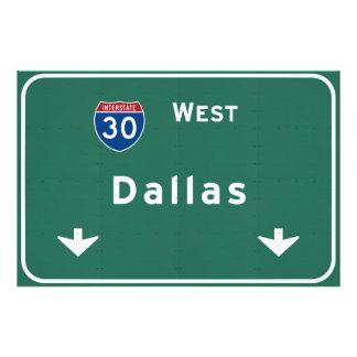 Dallas Texas tx Interstate Highway Freeway Road : Photo Print