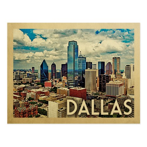 Dallas Texas Vintage Travel Postcard