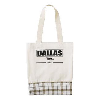 Dallas Texas Zazzle HEART Tote Bag