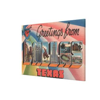 Dallas, TexasLarge Letter ScenesDallas, TX Canvas Print