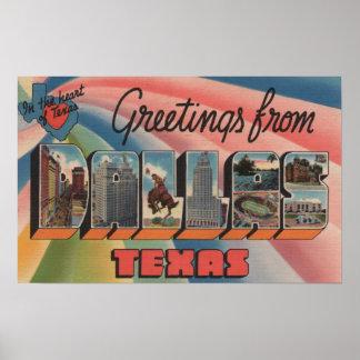 Dallas, TexasLarge Letter ScenesDallas, TX Poster