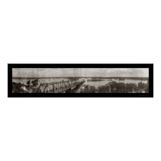 Dallas, TX Flood Photo 1908 Posters