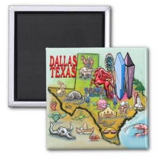 Dallas TX 2 Inch Square Magnet