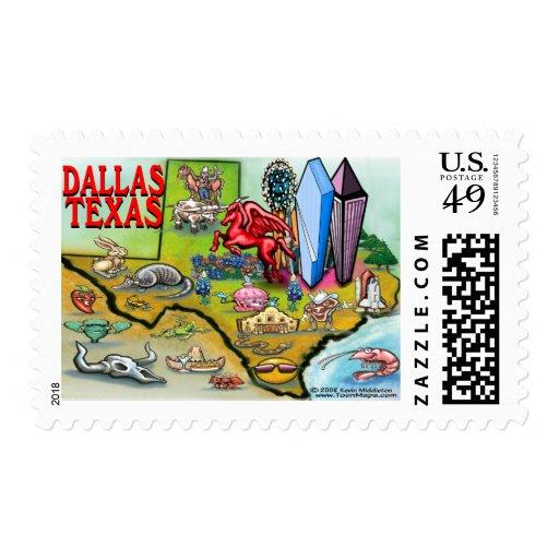 Dallas TX Postage Stamp