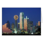'Dallas, TX skyline at night with Reunion Tower' Card