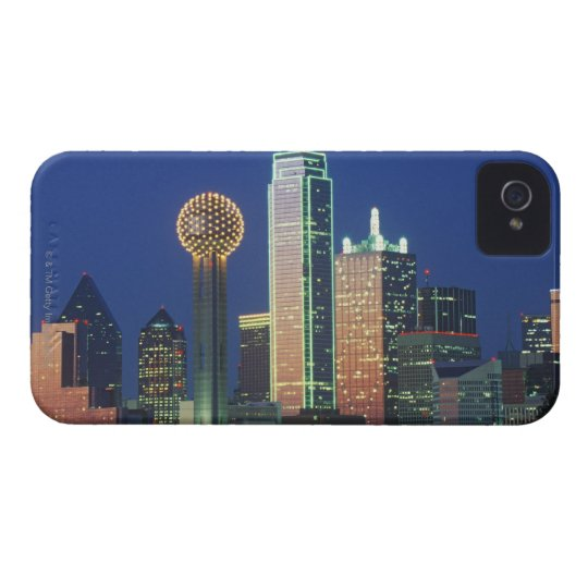 'Dallas, TX skyline at night with Reunion Tower' Case-Mate iPhone 4 Case