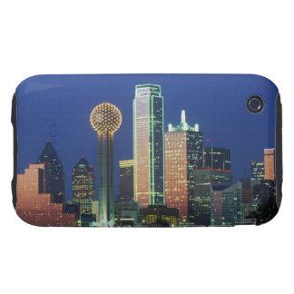 'Dallas, TX skyline at night with Reunion Tower' iPhone 3 Tough Cover