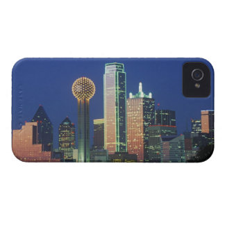 'Dallas, TX skyline at night with Reunion Tower' iPhone 4 Cases