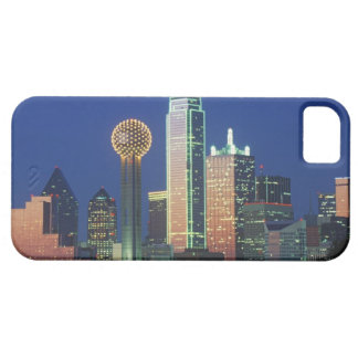 'Dallas, TX skyline at night with Reunion Tower' iPhone SE/5/5s Case