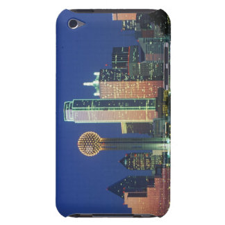 'Dallas, TX skyline at night with Reunion Tower' iPod Touch Covers