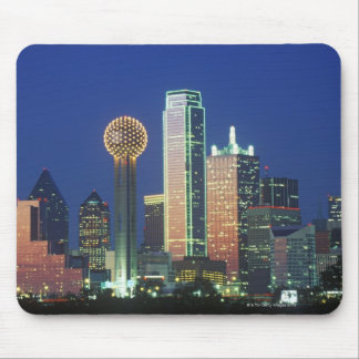 'Dallas, TX skyline at night with Reunion Tower' Mousepads