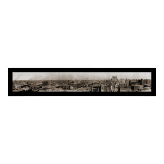Dallas TX Skyline Photo 1910 Posters