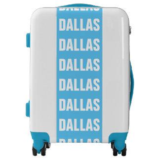 DALLAS, Typo white / blue Luggage