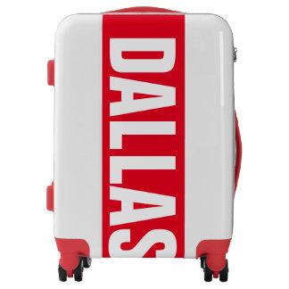 DALLAS, Typo white / red Luggage