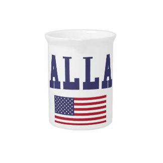 Dallas US Flag Beverage Pitchers
