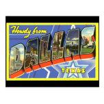 Dallas Vintage Travel Postcard Postcard