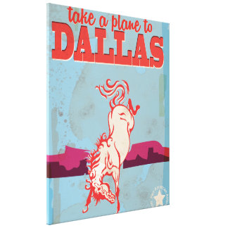 Dallas Vintage Travel Poster Gallery Wrapped Canvas