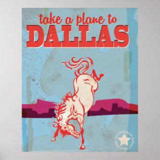 Dallas Vintage Travel Poster. Poster