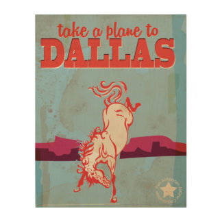 Dallas Vintage Travel Poster Wood Print