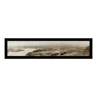 Dalles Canal OR Photo 1915 Poster