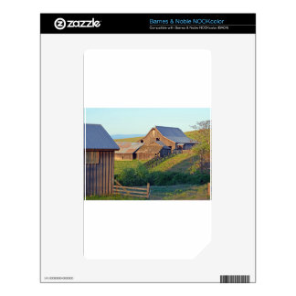 Dalles Mt Ranch Barn Decals For The NOOK Color