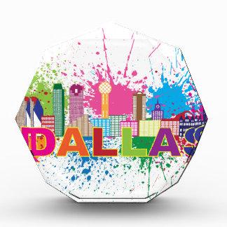 Dalles Texas Skyline Paint Splatter Illustration Award