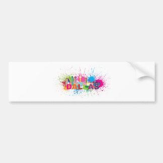 Dalles Texas Skyline Paint Splatter Illustration Bumper Sticker