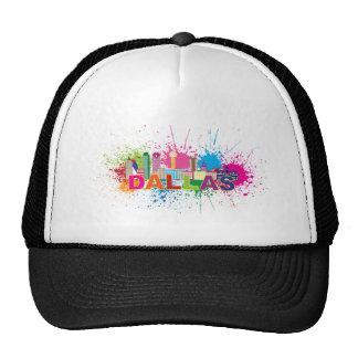 Dalles Texas Skyline Paint Splatter Illustration Trucker Hat