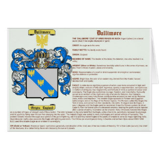 Dallimore (meaning) card
