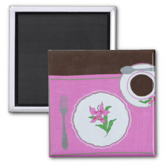 """""""Dallmayr's Dishes"""" 2 Inch Square Magnet"""
