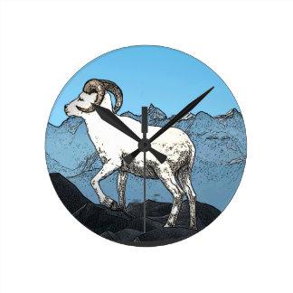 Dall's Sheep Round Clock