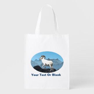 Dall's Sheep Reusable Grocery Bags