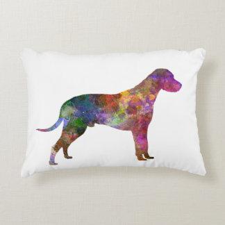 Dalmatian 01 in watercolor 2 accent pillow