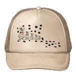 Dalmatian 3 girl 1 boy trucker hat
