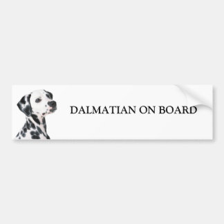 Dalmatian a bordo pegatina para el parachoques de  pegatina para auto