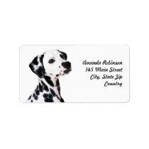 Dalmatian Address Label