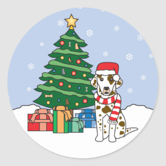 Dalmatian and Christmas Tree Sticker
