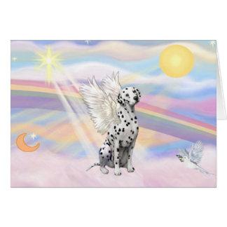 Dalmatian Angel Card