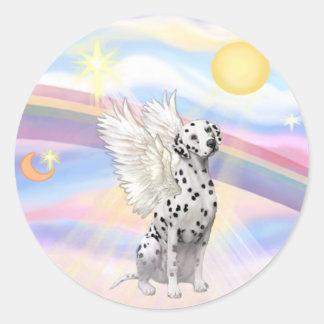 Dalmatian Angel Classic Round Sticker