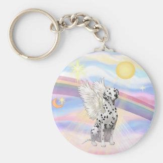 Dalmatian Angel Keychain