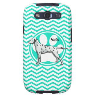 Dalmatian; Aqua Green Chevron Galaxy S3 Covers