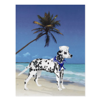Dalmatian at the Seashore Postcard