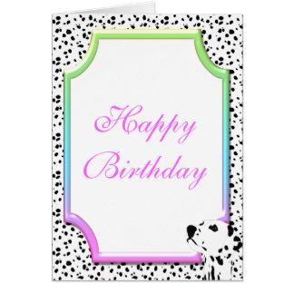 Dalmatian Birthday Card