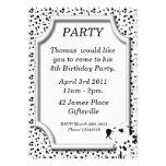 Dalmatian Birthday Party Invitation