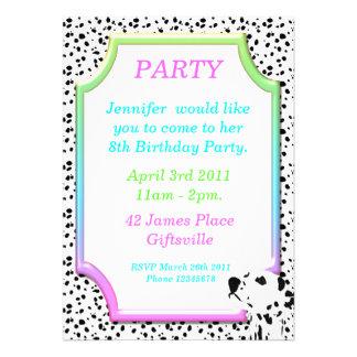 Dalmatian Birthday Party Invitation 2