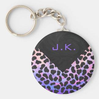 Dalmatian Black and Pink Print Keychain