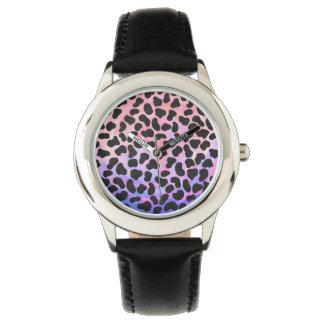 Dalmatian Black and Pink Print Wrist Watch