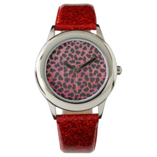 Dalmatian Black and Red Print Watch